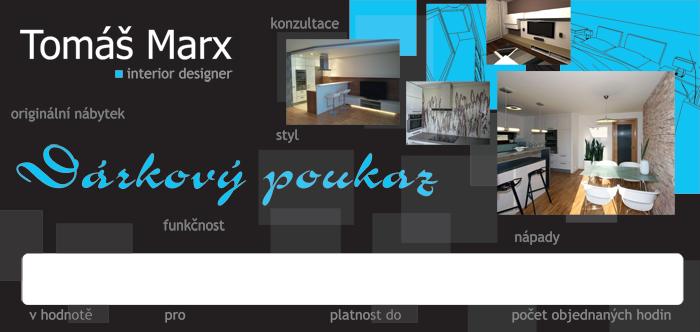 Tomáš Marx – interiérový design – dárkový poukaz